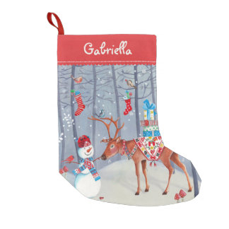 Christmas Cute Reindeer Snow | Cristmas Stocking