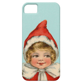 Christmas Cute Vintage Elf Girl iPhone SE/5/5s Case