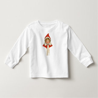 Christmas Cute Vintage Elf Girl Toddler T-shirt