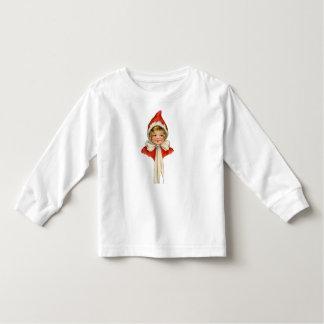 Christmas Cute Vintage Elf Girl T-shirt