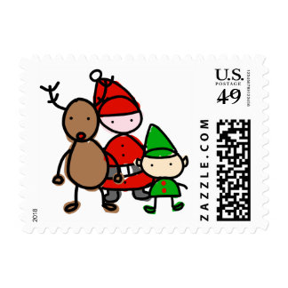Christmas Cuties Kid Style Postage Stamps