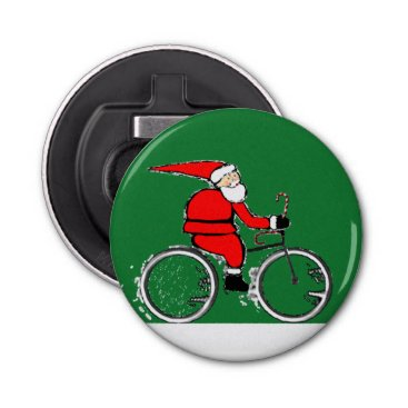 Beach Themed Christmas Cyclist Bottle Opener