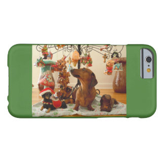 Christmas Dachshund Barely There iPhone 6 Case