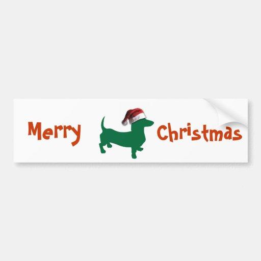 Christmas Dachshund Bumper Stickers