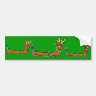Christmas Dachshund Bumper Sticker