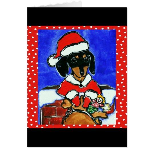 Christmas Dachshund Card