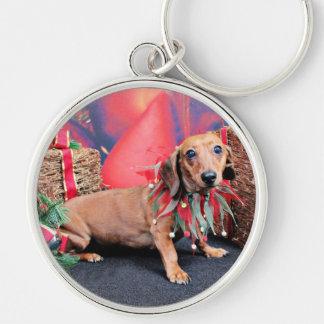 Christmas - Dachshund - Copper Keychain