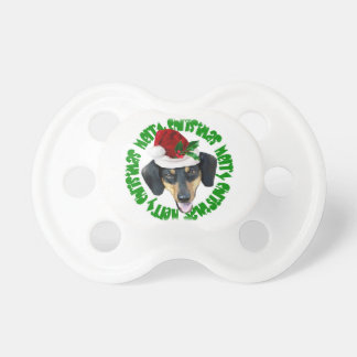 Christmas Dachshund dog Pacifier