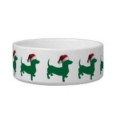 Christmas Dachshund Doxies Bowl at Zazzle