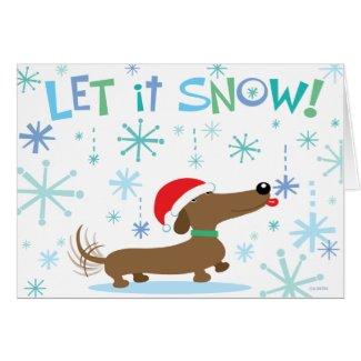 Christmas Dachshund holiday card