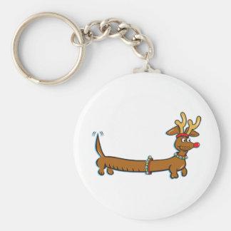 Christmas Dachshund Keychain