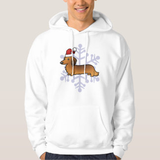 Christmas Dachshund (longhair) Sweatshirt