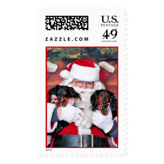 Christmas - Dachshund - Mickey & Madilyn Stamps