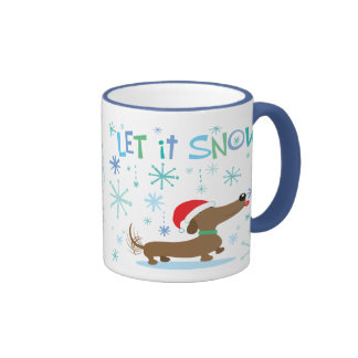 Christmas Dachshund mug