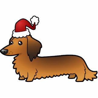 Christmas Dachshund Ornament (longhair)
