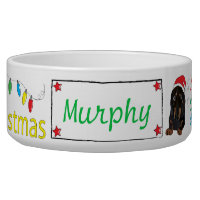 Christmas Dachshund Pet Bowl Furry Little Xmas