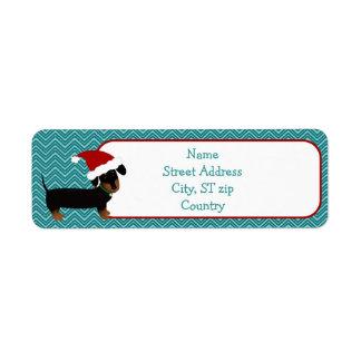 Christmas Dachshund Return Address Label