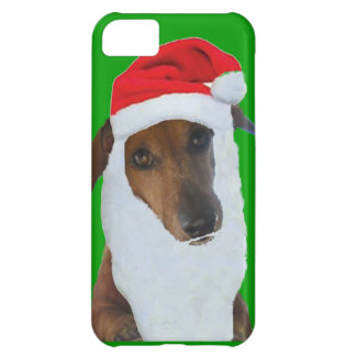 Christmas Dachshund Santa Cover For iPhone 5C