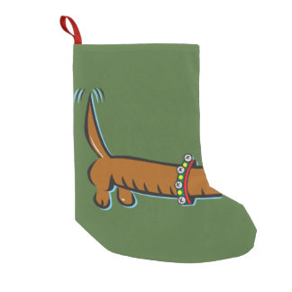 Christmas Dachshund Small Christmas Stocking