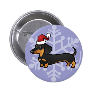 Christmas Dachshund (smooth coat) Pin