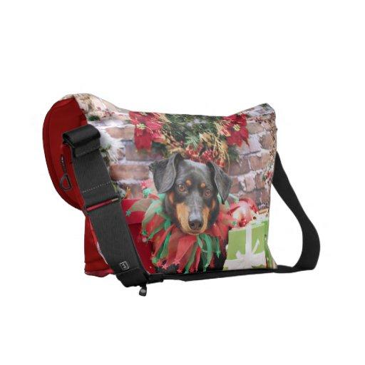 Christmas - Dachshund - Tanner Messenger Bag