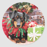 Christmas - Dachshund - Tanner Stickers