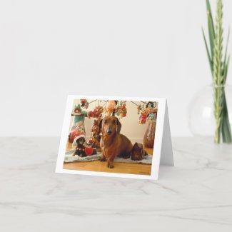 Christmas Dachshund (Ver.1) Card card