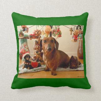 Christmas Dachshund (Ver. 1) Pillow