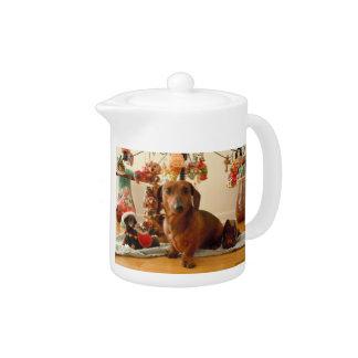 Christmas Dachshund (Ver. 1) Teapot