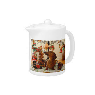 Christmas Dachshund (Ver. 2) Teapot