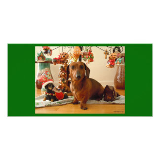 Christmas Dachshund (Version 1) Card