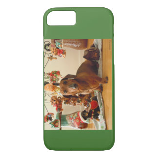 Christmas Dachshund (Version 1) iPhone 7 Case