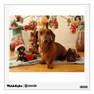 Christmas Dachshund Version 1 Wall Decal