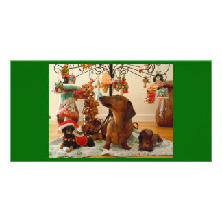 Christmas Dachshund (Version 2) Card