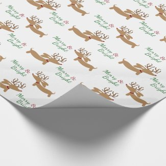 Doxie Merry & Bright Gift Wrap