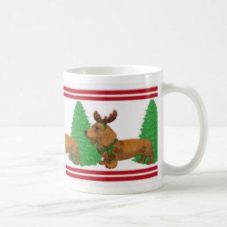 Christmas Dachshunds pet lover mug
