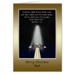 Christmas, Dad,  Religious Greeting Card