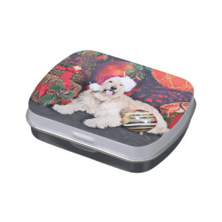 Christmas - Daisy - Goldendoodle Candy Tin