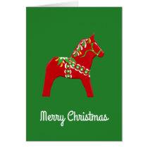 Christmas Dala Horse Card