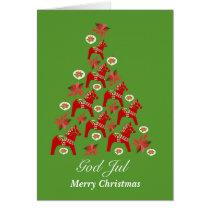 Christmas Dala Horses Card