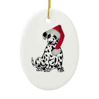Christmas Dalmatian Christmas Ornament