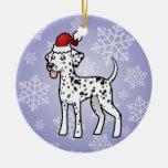 Christmas Dalmatian Christmas Ornaments