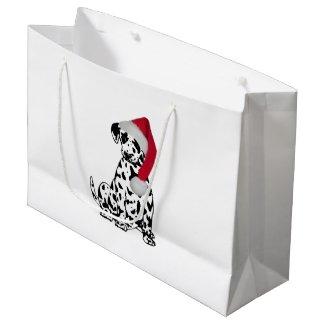 Christmas Dalmatian Large Gift Bag