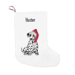 Christmas Dalmatian Name Small Christmas Stocking
