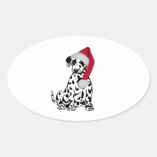 Christmas Dalmatian Stickers