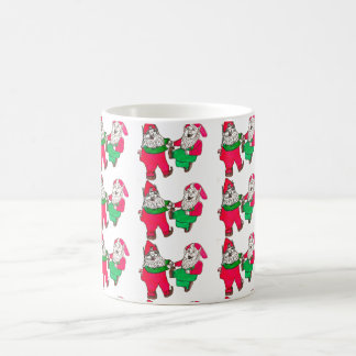 CHRISTMAS DANCING ELVES mug