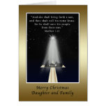 Christmas, Daughter and Family,  Religious Greeting Card