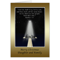 Christmas, Daughter and Family,  Religious Cards