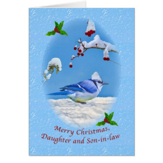 Christmas, Daughter and Son-in-law, Blue Bird and Card