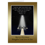 Christmas, Daughter and Son-in-law,  Religious Greeting Card